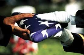 Military flag folded