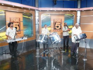 Caiso Steelband on Fox 5 News Morning show