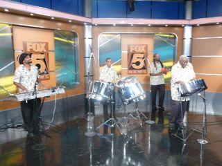Caiso Steelband on Fox 5 News Morning show