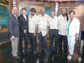 Caiso with the Fox 5 morning show cast.